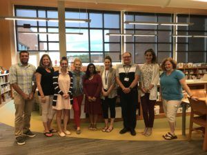 New teachers standing together