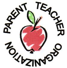 Parent Teacher Organization written around an apple