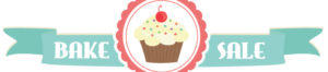bake sale banner with cupcake