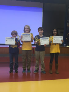 Math Bowl Team with Trophies and Certificates